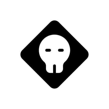 danger vector glyph flat icon
