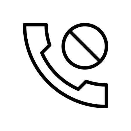 phone vector thin line icon