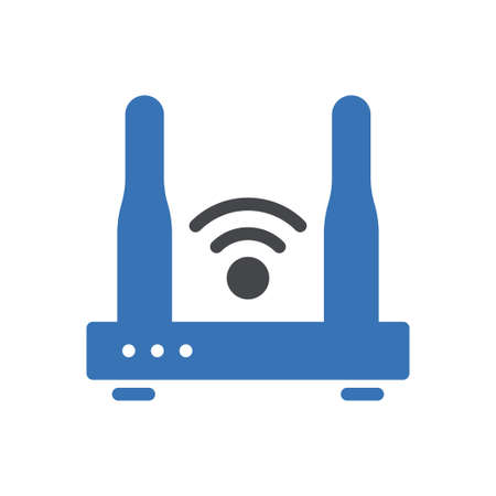 router vector glyph colour icon