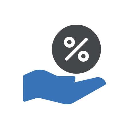 tax vector glyph colour icon
