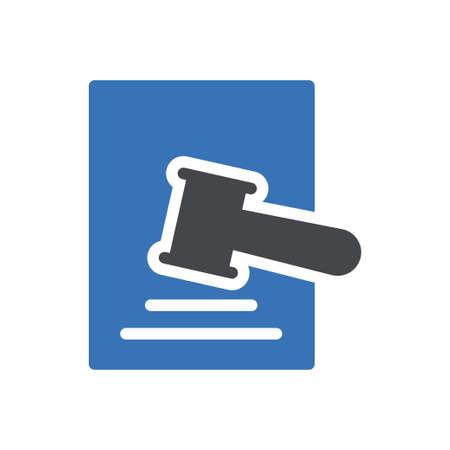 auction vector glyph colour icon