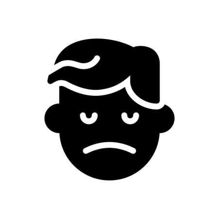 dislike vector glyph flat icon