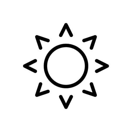 sun vector thin line icon