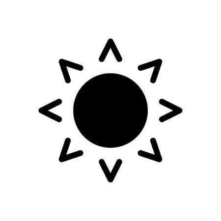 sun vector glyph flat icon
