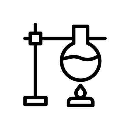 burner vector thin line icon