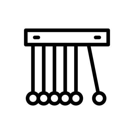 pendulum vector thin line icon
