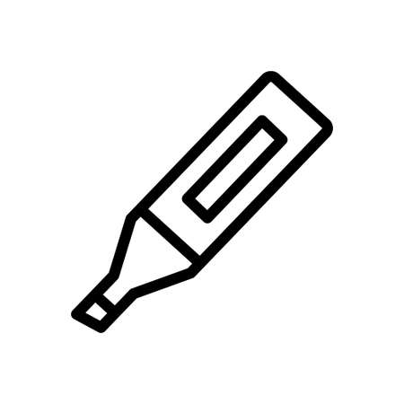 marker vector thin line icon
