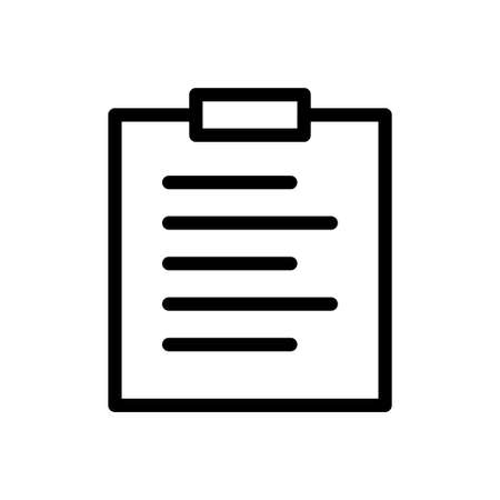 clipboard vector thin line icon Çizim