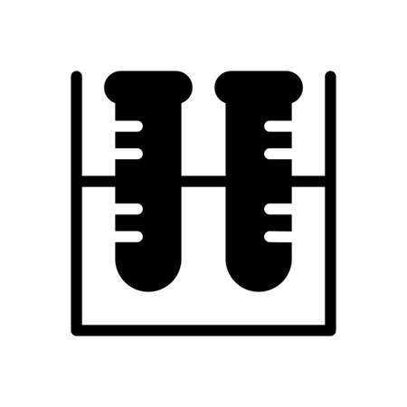 test tube vector glyph flat icon