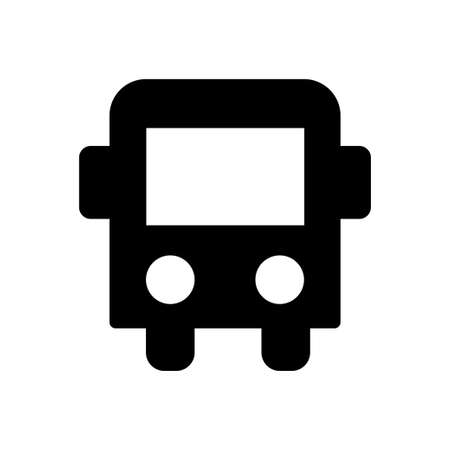vehicle vector glyph flat icon