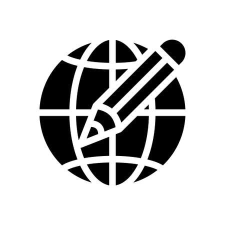 global vector glyph colour icon