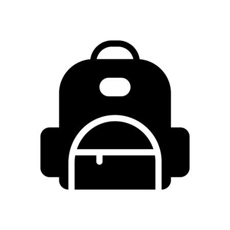 backpack vector glyph flat icon