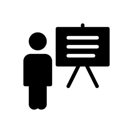 professor vector glyph flat icon