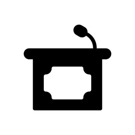 podium vector glyph flat icon Çizim