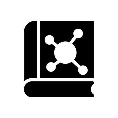 science vector glyph flat icon