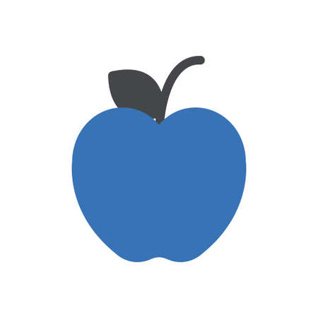 apple vector glyph colour icon