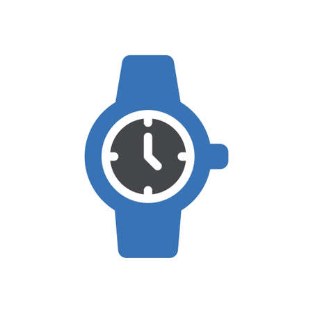 wristwatch vector glyph colour icon