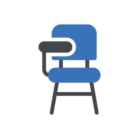 chair vector glyph colour icon