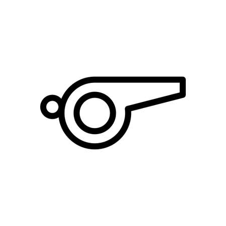 whistle vector thin line icon