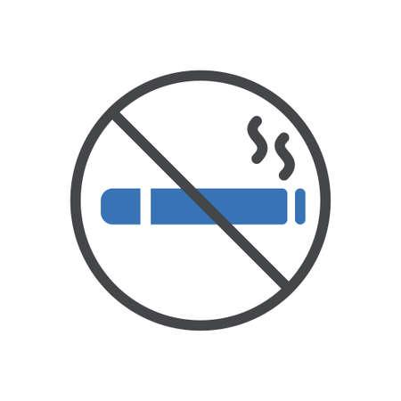 not allowed vector glyph colour icon