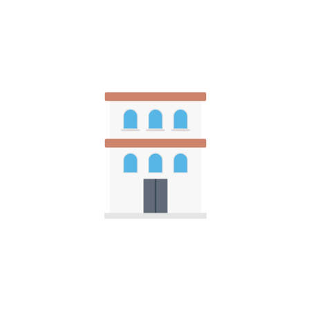 apartment vector flat colour icon