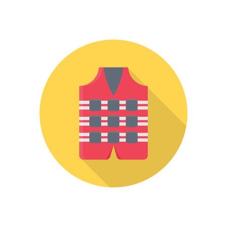 lifejacket vector colour flat icon