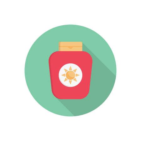sunblock vector colour flat icon
