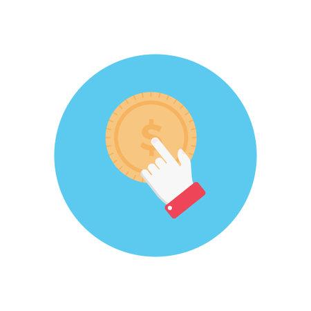 online vector colour flat icon