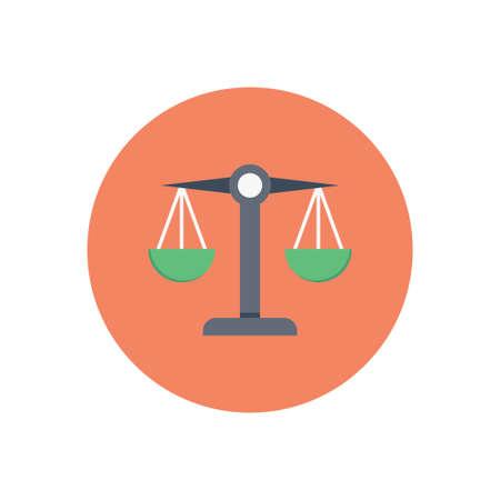 scale vector colour flat icon