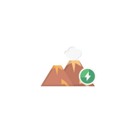 volcane vector colour flat icon