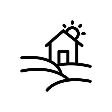 home vector thin line icon