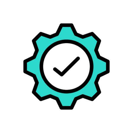 setting tick vector line colour icon
