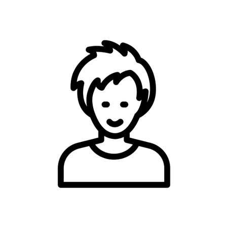 boy vector thin line icon Vektorgrafik