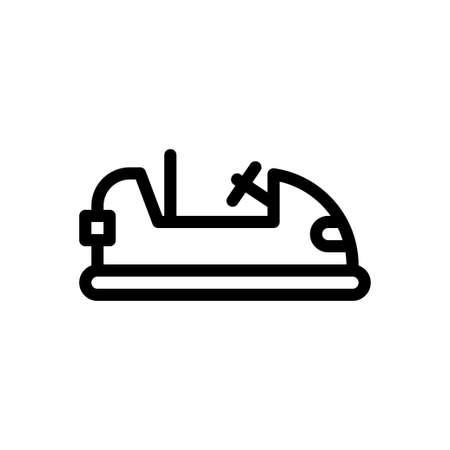 car vector thin line icon