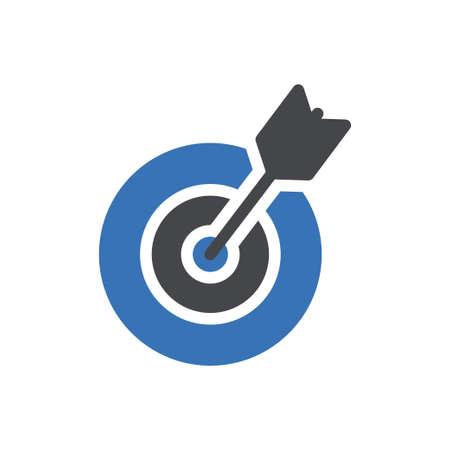 dartboard vector glyph color icon