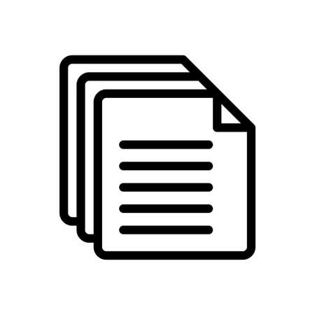 pages vector thin line icon