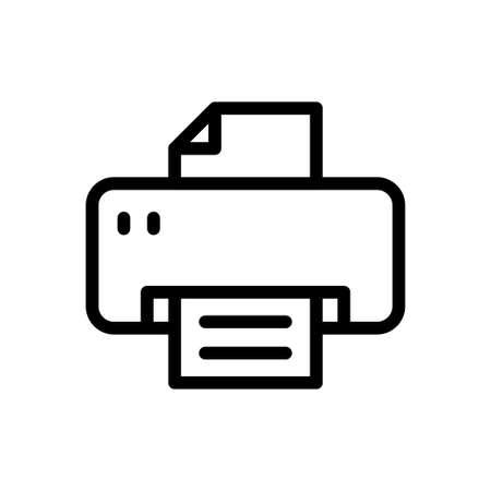 printer vector thin line icon