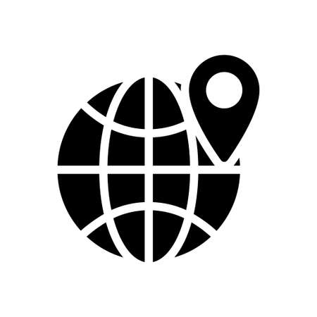 map vector glyph flat icon Vettoriali