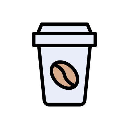 coffee vector color line icon