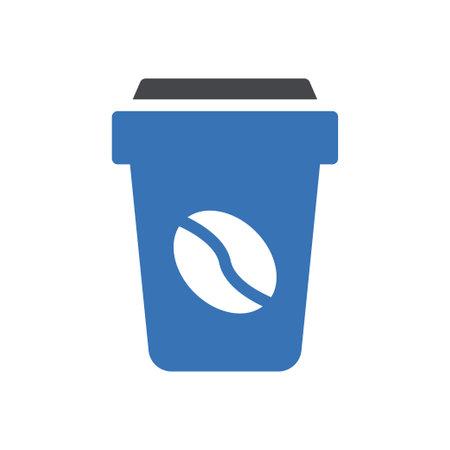 coffee vector glyph color icon