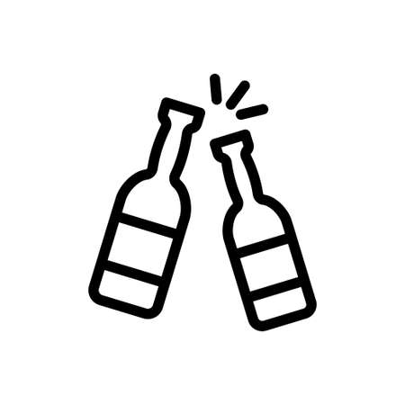cheer vector thin line icon Векторная Иллюстрация