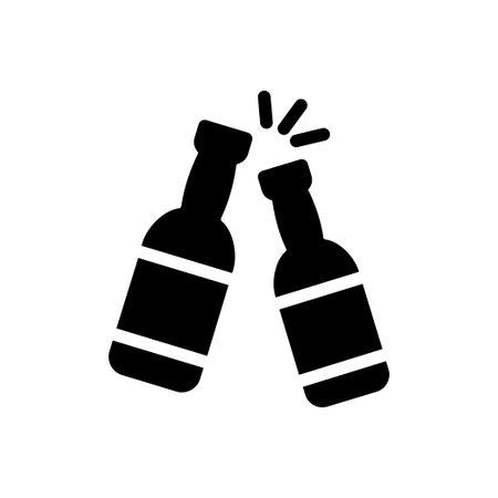 cheer vector glyph flat icon