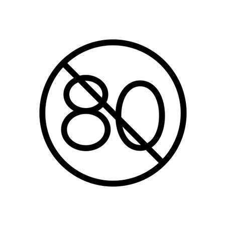 stop vector thin line icon