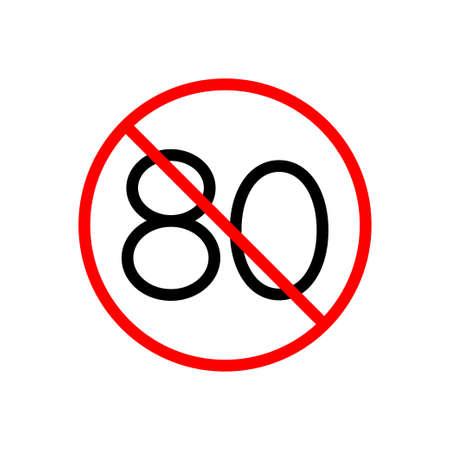 stop vector glyph flat icon