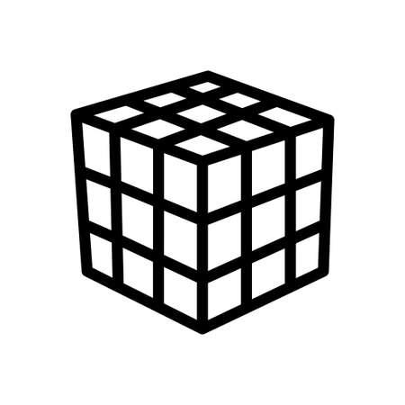 box vector thin line icon Ilustración de vector