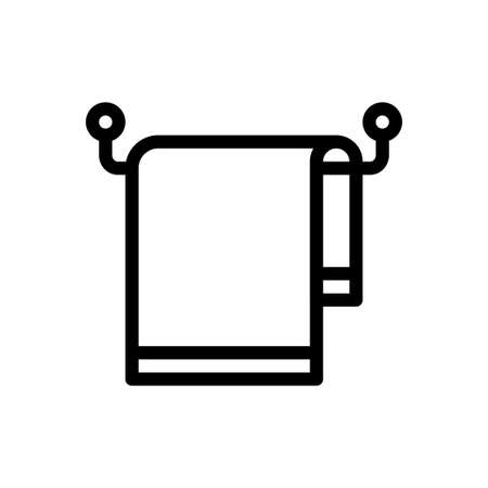 towel hanging vector thin line icon