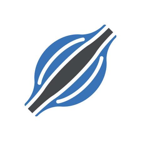 bicep vector glyph colour icon