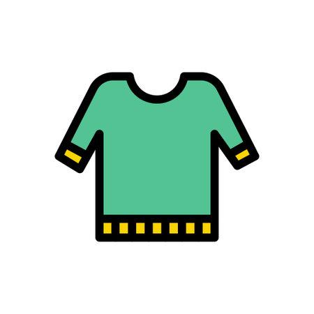 shirt vector line colour icon