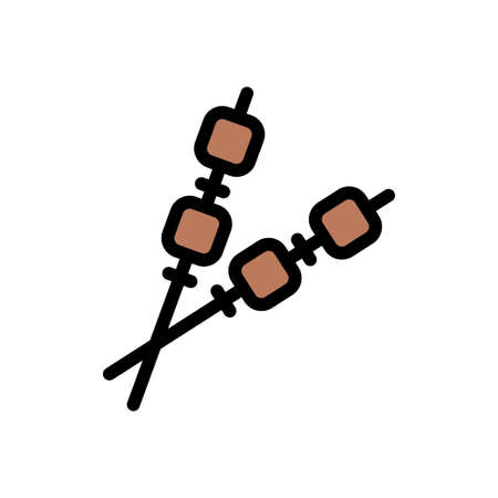 barbecue vector line colour icon