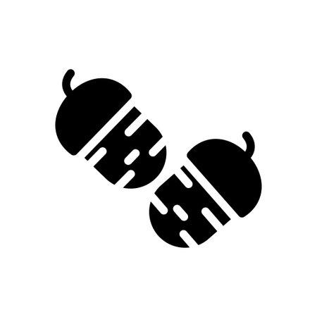 hazelnut vector glyph flat icon